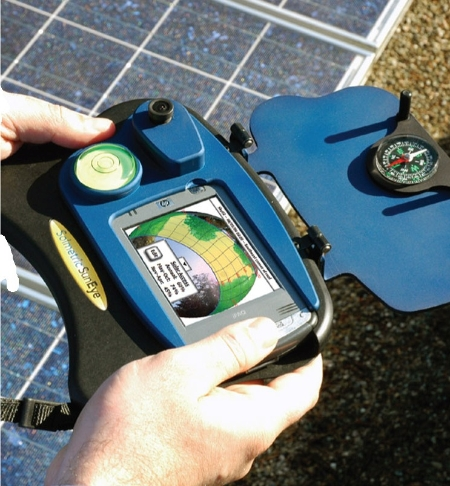 The Solemetric SunEye tool allows users to assess total potential solar energy given the shading of a site.