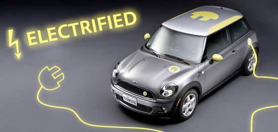 The Mini E - Soon to be seen Plugged-into Manhattan Beach