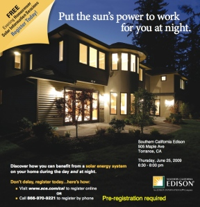 SCE solar workshop