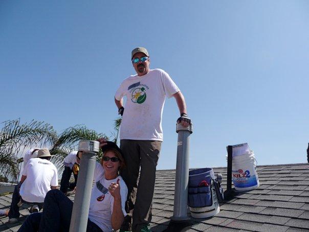 Greenius on the Roof in Long Beach installing solar for GRID Alternatives