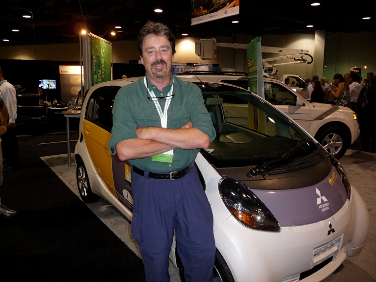 The Mitsubishi i-MiEV, only here because SCE is testing it.  The Greenius says this car has EV sex appeal