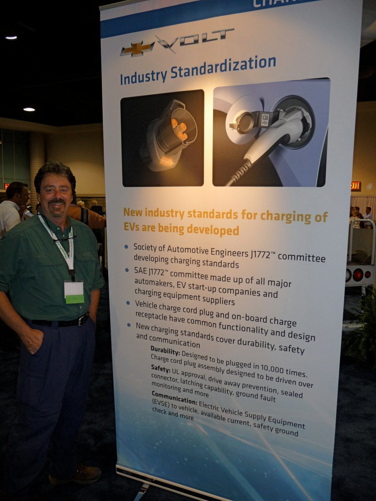 At least GM sent this nifty printed banner explaining all about the new J1772 industry standard recarging plug