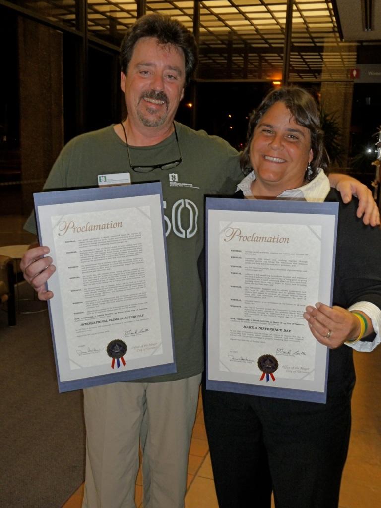 Joe Galliani with Tracy Drake of Madrona Marsh (c) Debra Bushweit Galliani