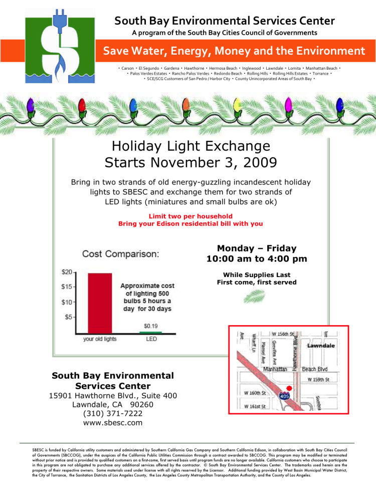 2009 Holiday Light Exchange Flyer