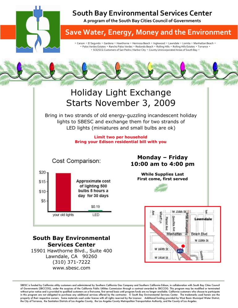 2009 Holiday Light Exchange Flyer